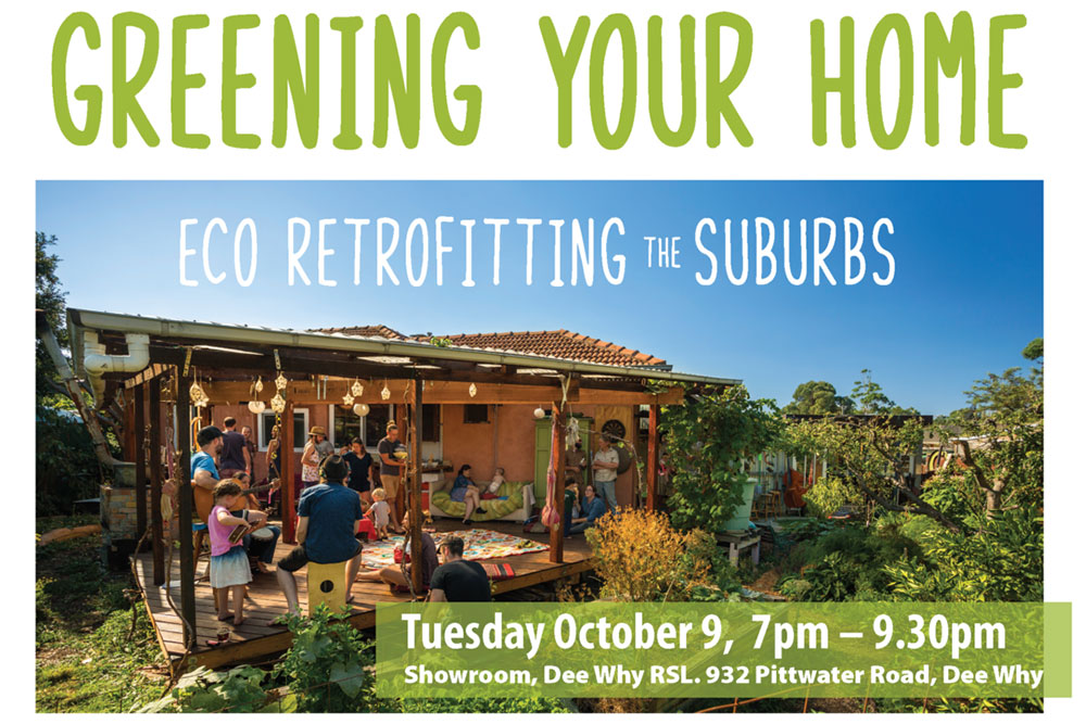 Greening your home, Eco retrofitting the suburbs