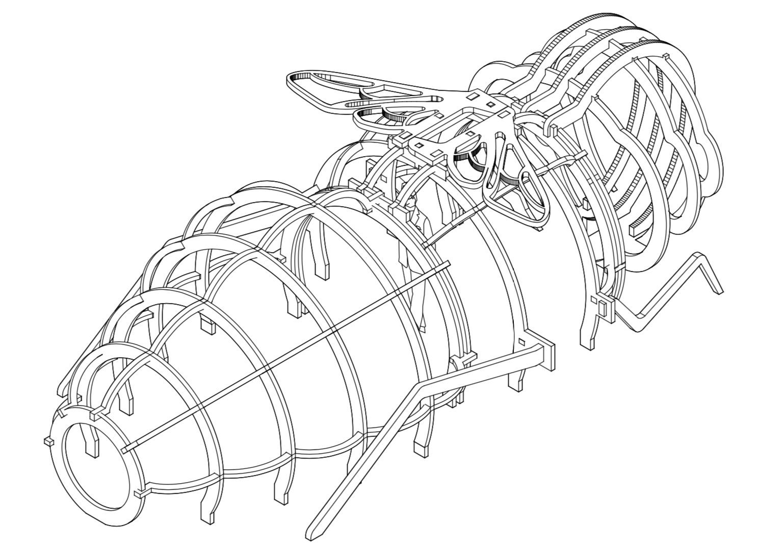 Three dimensional sketch of the Bee Friendly prototype